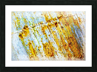 Rusty Barrel Picture Frame print