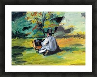 Painter at Work by Cezanne Picture Frame print
