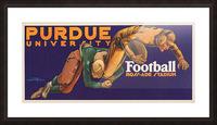 1929 purdue football art Picture Frame print