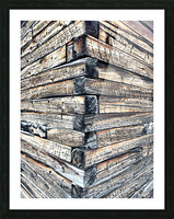 Log wall art  Picture Frame print