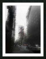 Skyscraper black and white  Picture Frame print