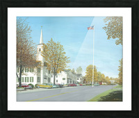October Sunday - Newtown Scenes 24X30   Picture Frame print