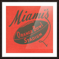 1950 Miami Orange Bowl Picture Frame print