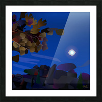 Vedauwoo at Night with Headlamps Picture Frame print