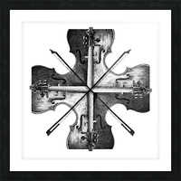 Harmony 36x36 BW Picture Frame print