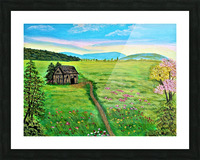 Sweet Little Home on Plains Picture Frame print