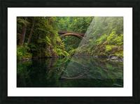 Wooden Bridge Picture Frame print