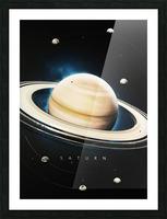 Destination Saturn Picture Frame print