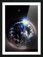Cosmic Sapphire Picture Frame print