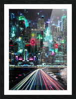 Neon City Picture Frame print