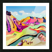 Sybille Range Picture Frame print
