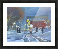 Charlottetown Winter Evening Picture Frame print