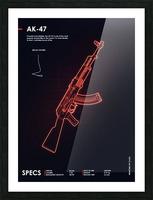 AK-47 CSGO WEAPON Picture Frame print