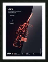 AUG CSGO WEAPON Picture Frame print