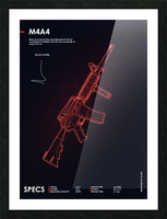 M4A4 CSGO WEAPON Picture Frame print