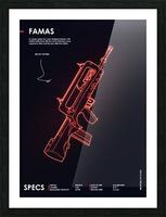 FAMAS CSGO WEAPON Picture Frame print