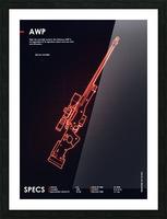 AWP CSGO WEAPON Picture Frame print