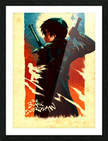 Kirito SWORD ART ONLINE Picture Frame print