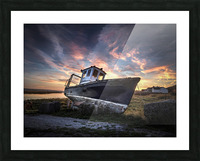 The old fishing boat Picture Frame print