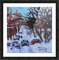 Montreal Est, Winter Scene Picture Frame print