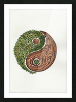 Ying yang Picture Frame print
