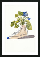 Chucks and Flowers  Picture Frame print