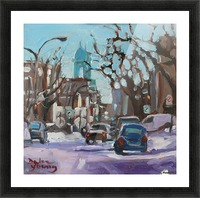 Montreal Winter Scene, Petite Italie Picture Frame print