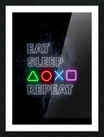 EAT SLEEP REPEAT Picture Frame print