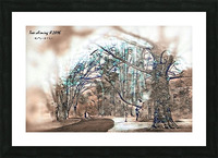 TreeCliming inky Picture Frame print