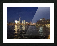 NYNight Picture Frame print