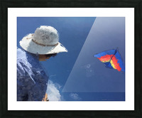 Kiting p Picture Frame print