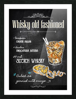 Whisky old fashioned Picture Frame print