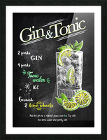 Gin and Tonic Picture Frame print