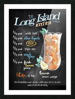 Long Island iced tea Picture Frame print