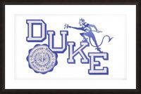 Vintage Duke University Art Picture Frame print