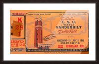 1948 LSU vs. Vanderbilt Picture Frame print