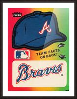 1983 Atlanta Braves Fleer Decal Picture Frame print