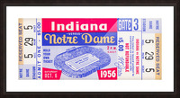 1956 Notre Dame vs. Indiana Picture Frame print