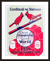 1926 World Series Score Card Picture Frame print