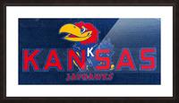 1950s Kansas Jayhawk Art Picture Frame print
