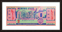 1941 Memphis State Picture Frame print
