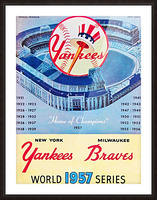 1957 World Series Program Picture Frame print