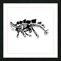 Fossil Stegasaurus Picture Frame print
