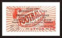1937 Oklahoma vs. Texas Picture Frame print