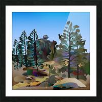 Balancing Boulder Picture Frame print