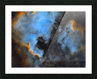 North American and Pelican Nebula Picture Frame print