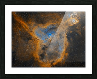 Heart Nebula Picture Frame print