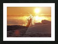 A Splash of Sunrise Picture Frame print