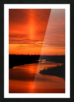 Big Ditch Sunset Picture Frame print