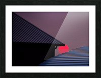 Smokey Sunset and Steel Roofs Picture Frame print